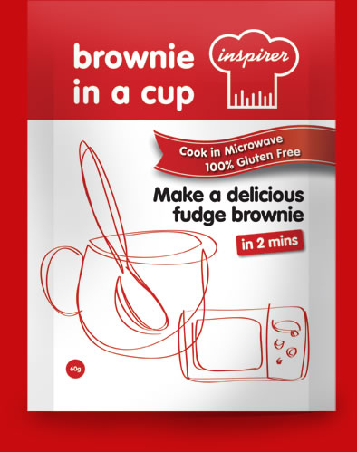 Inspirer brownie in a cup